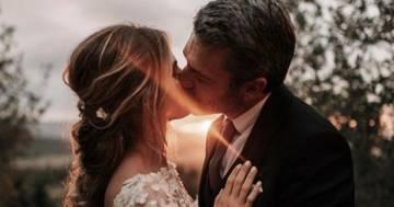 Luca Argentero e Cristina Marino sposi: la meravigliosa foto al tramonto