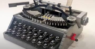 Ecco la macchina per scrivere fatta in Lego e che funziona veramente