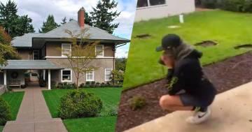 L'operaio scava nel giardino ma sbaglia indirizzo: ecco la reazione del suo capo