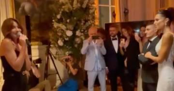 Carla Bruni canta al matrimonio di Marco Verratti e incanta tutti: il video