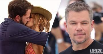 Jennifer Lopez e Ben Affleck, l'assurdo commento di Matt Damon sul loro ritorno di fiamma