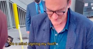 Quentin Tarantino: il suo autografo sul piede di una fan fa il giro di TikTok