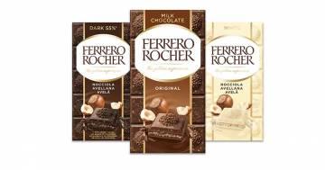 Arrivano le tavolette di cioccolato al gusto di Ferrero Rocher