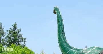 Dalla montagna spunta un gigantesco dinosauro? Il video dalla Cina