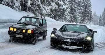 La sfida incredibile tra una Ferrari SF90 e una Panda 4x4 sulla neve: ecco il video