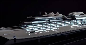 Ecco la super nave di lusso per tutti i ricchi che vorranno vivere sul mare