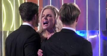 GFVip, Francesca Cipriani show: incontra il fidanzato e i bodyguard devono trattenerla
