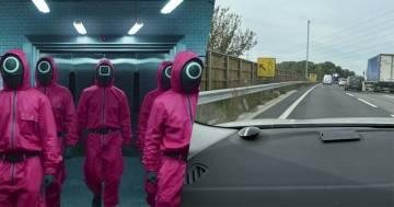 Squid Game: un misterioso cartello con i simboli della serie crea il panico tra gli automobilisti