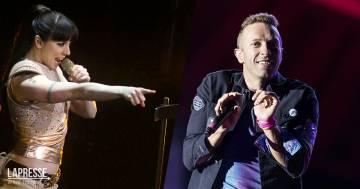 Chris Martin dei Coldplay e Mel C in una cover delle Spice Girls
